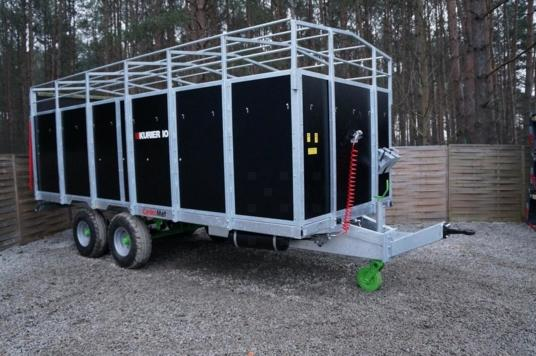 Cynkomet Powerfarm Przyczepa KURIER 10 T-678, Animal Trailer KURIER 10 T 678 Tandem remorca pentru animale